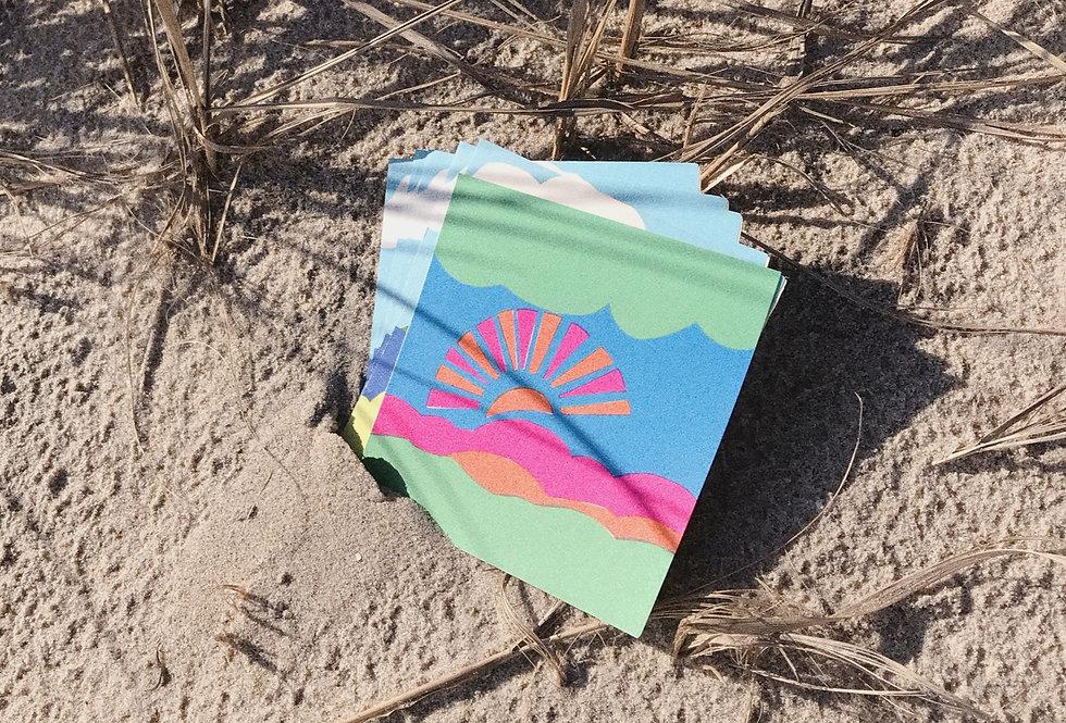 Deadstock 1960s Sunrise + Sunset Cards ✿10 Pack✿