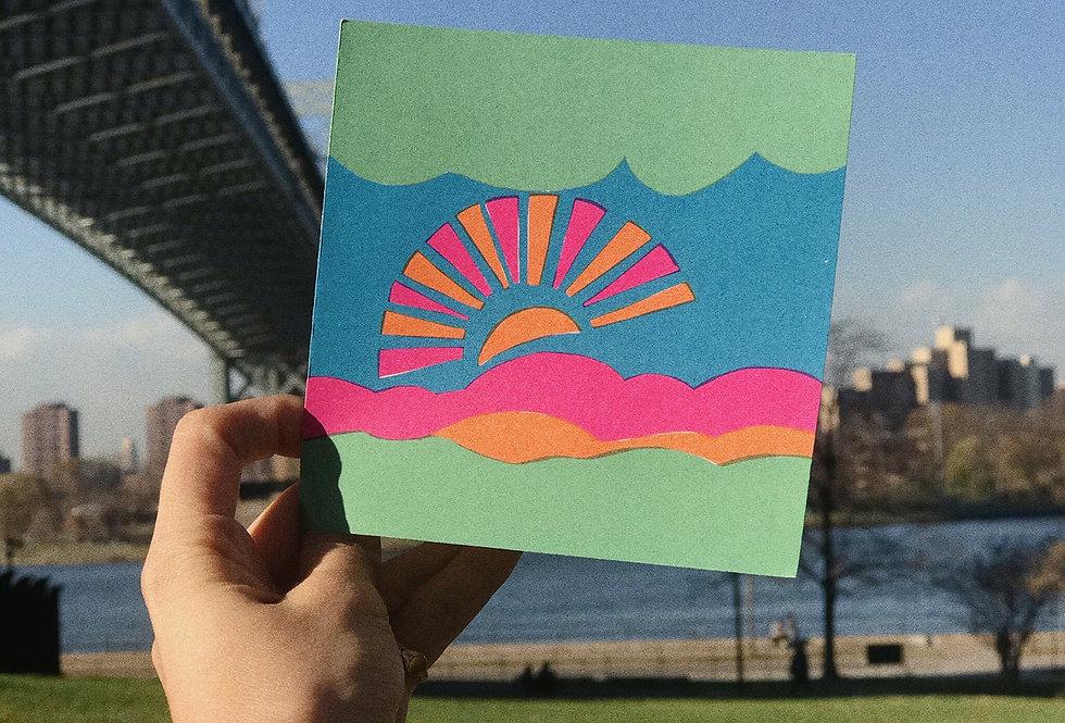 Deadstock 1960s Sunset Card
