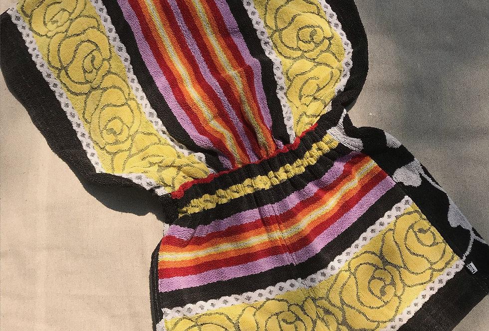 Black Lemon Rose  Towel Romper