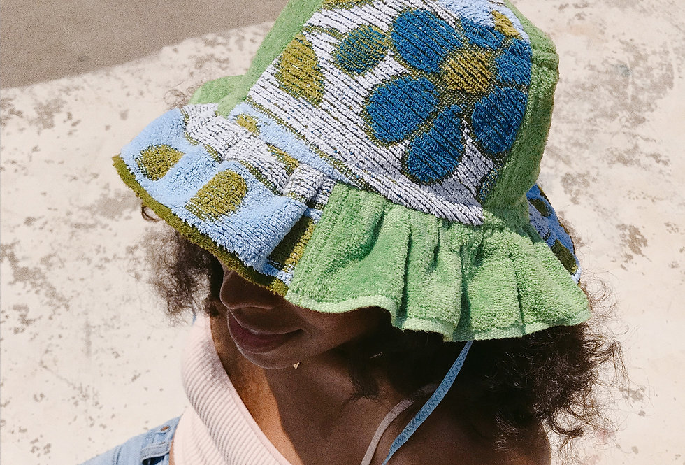 The Bana Patchwork Terry Towel Hat