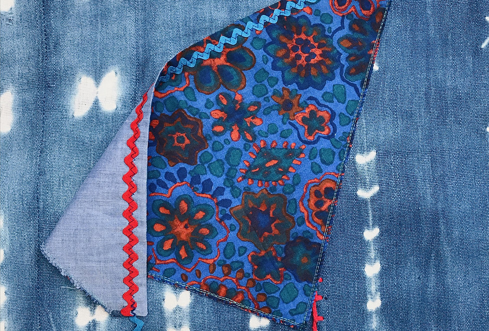 The Donna Reversible Rick Rack Headscarf