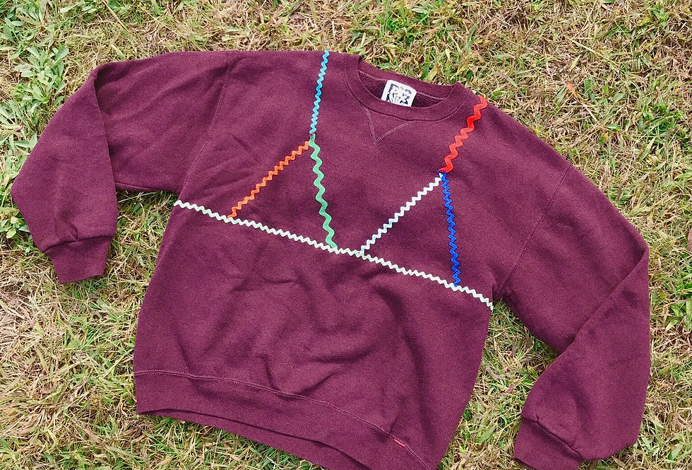 Burgundy Trompe L'Oeil Sweatshirt
