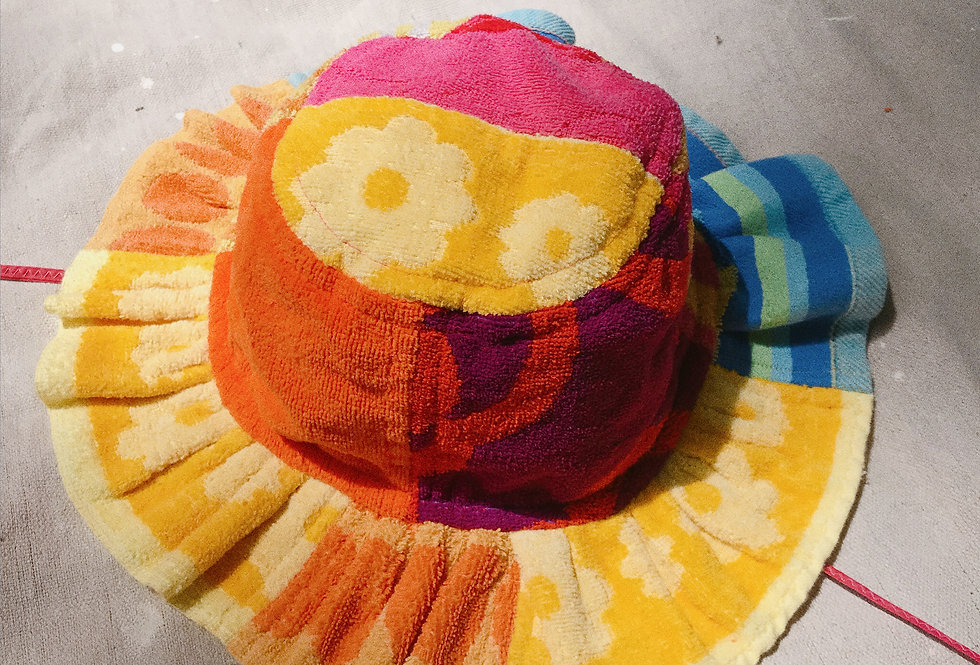 The Kate Patchwork Terry Towel Hat