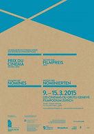 Affiche prix du cinéma suisse semaine des nominés 2015 Zurich et Genève