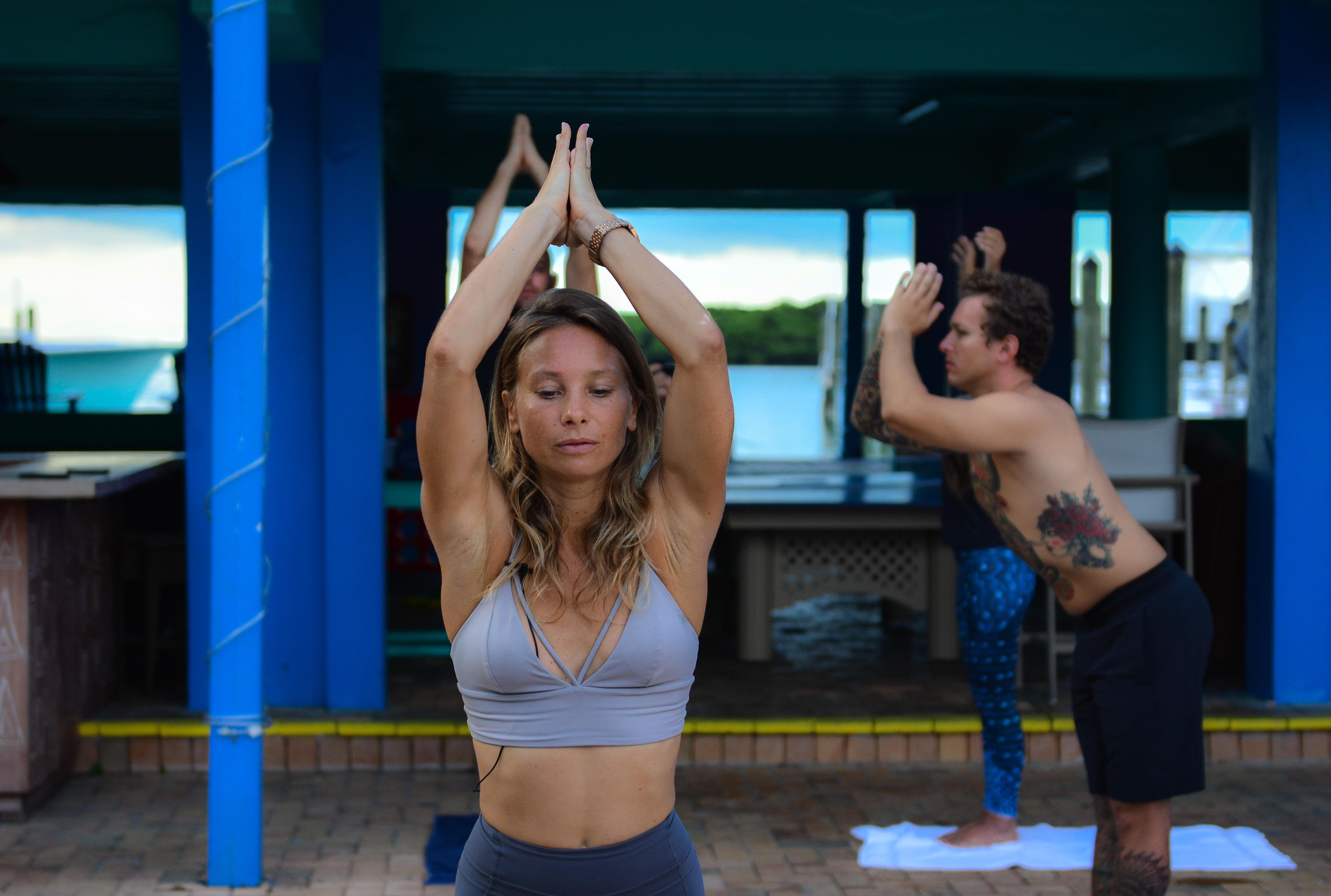 Pre-Crossing Yoga! Namaste Yogis