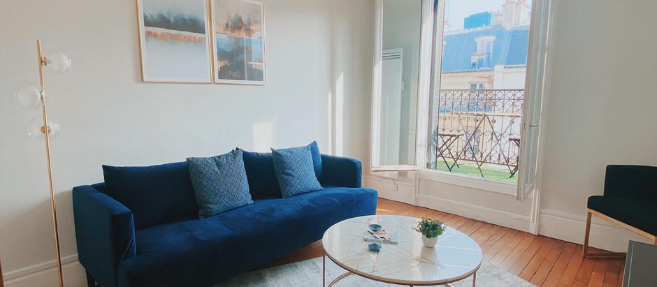 Un appartement meublé en plein cœur de paris