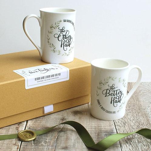 Mr & Mrs Mug Gift Set: Other Half Better Half