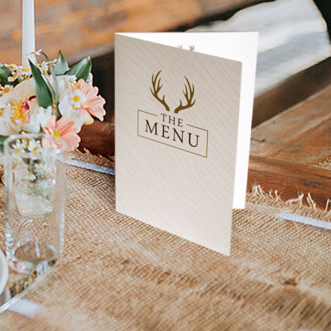 hunt is over folded table menu