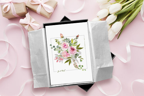 Your Bouquet Illustrated Print