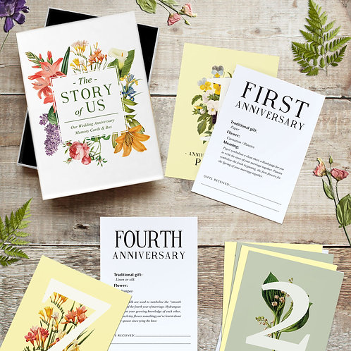 Story of Us Wedding Anniversary cards