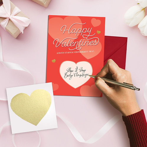 Valentines Scratch Surprise Card