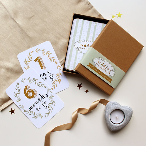 Engagement Gift Wedding Countdown Cards