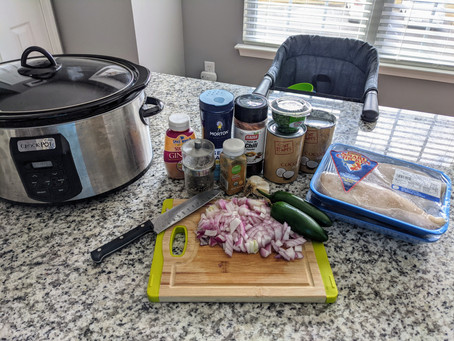 Delicious Crockpot Basil Curry Chicken