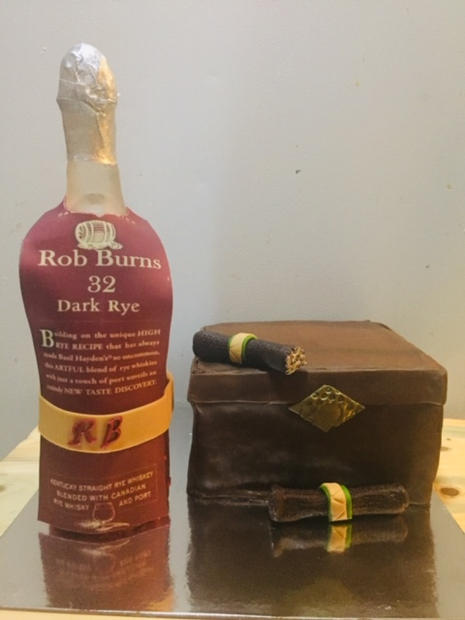 Cigar and Whiskey Cake