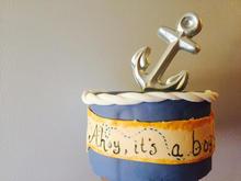 Nautical Baby Boy Cake