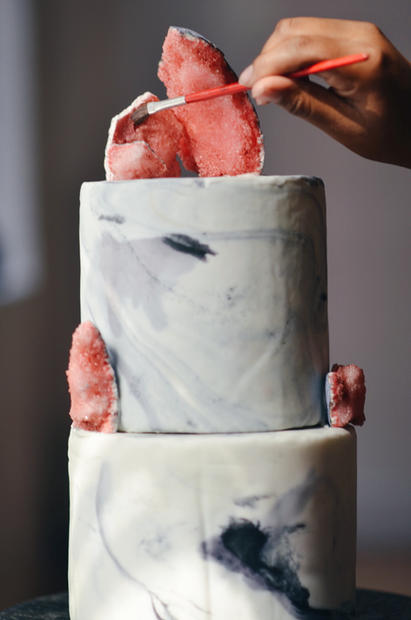 Marble Painted Cake