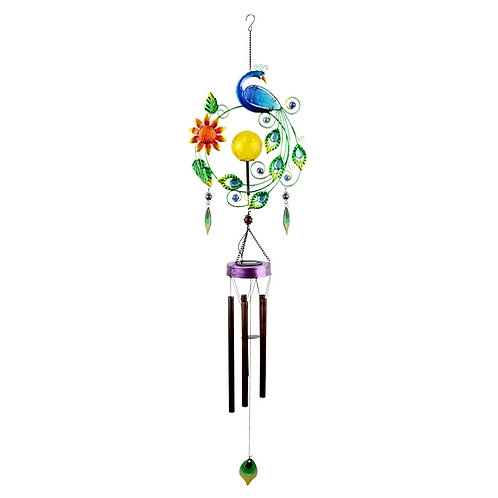 Solar LED Peacock Wind Chime