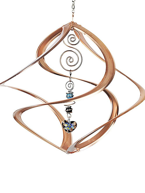 Copper Wind Spinner w/Heart Accent