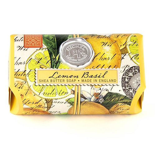 Lemon & Basil Large Bar Soap