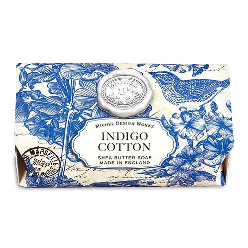 Indigo Cotton Large Bar Soap