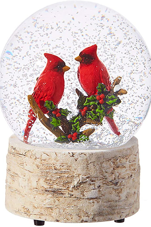 Wind Up Musical Cardinal Snow Globe
