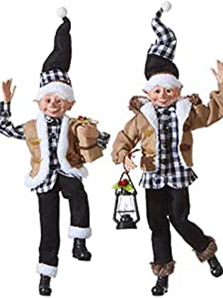 Christmas in The Country Set of 2 Elves