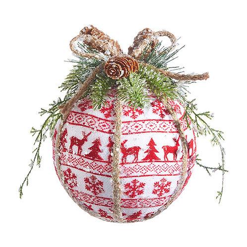 """7"""" Nordic Ball Ornament"""