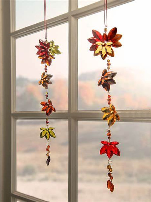 Crystal Expressions Autumn Leaves Sun Catcher