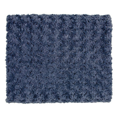 Rose Petal Denim Throw Blanket