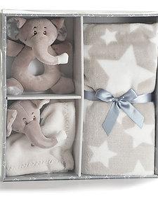 Elephant Baby Blanket Set
