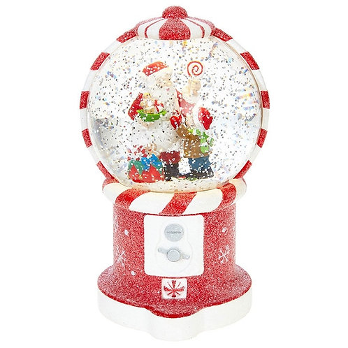 Santa Gumball Machine Water Lantern