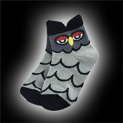 Black & Gray Youth Owl Socks