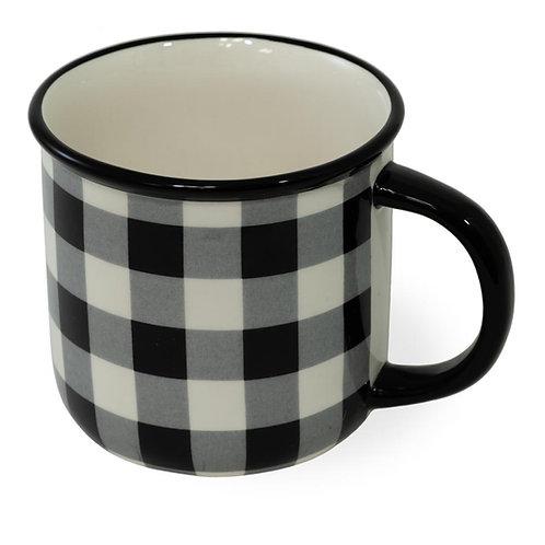 Black & White Check Mug