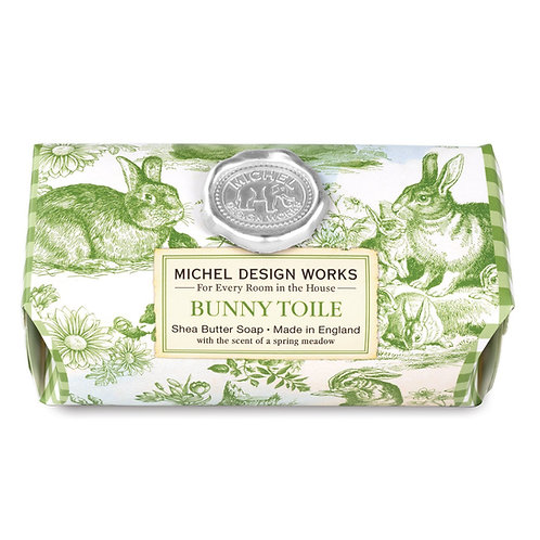 Bunny Toile Large Bar Soap