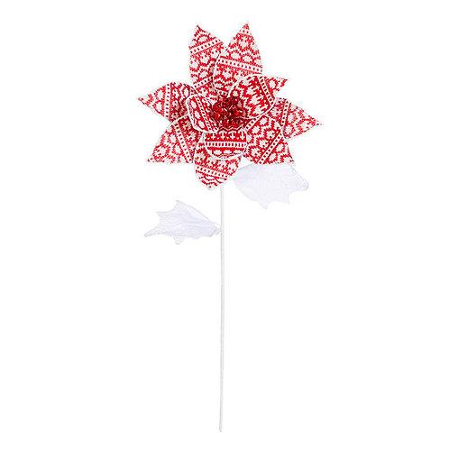 """25.5"""" Nordic Poinsettia Stem"""