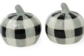 Black & White Check Salt & Pepper Set