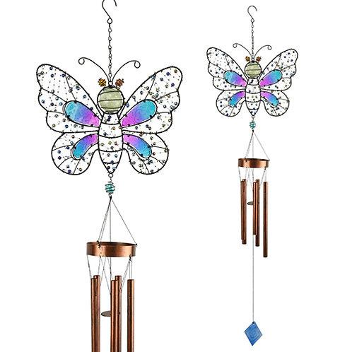 Glow in the Dark Butterfly Wind Chime