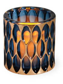 Blue & Copper Votive Holder