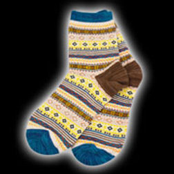 Blue Multi Adult Diamond Pattern Sock