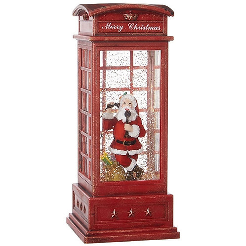 Santa in Phone Booth Water Lantern