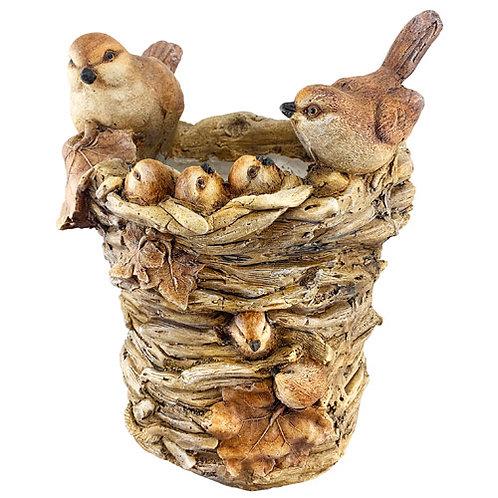 3D Bird Family Nest Planter