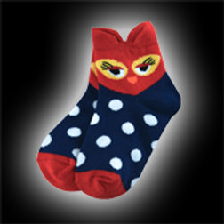 Red & Blue Youth Owl Socks