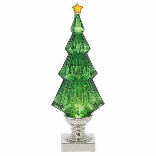 Green Lighted Christmas Tree