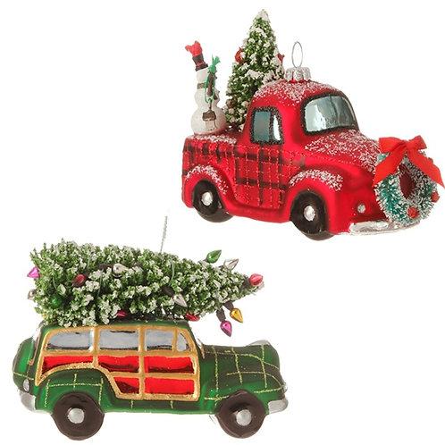 Vintage Car & Truck Ornament Set