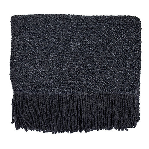 Campbell Charcoal Throw Blanket