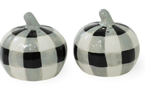 Black & White Check Salt & Pepper Set