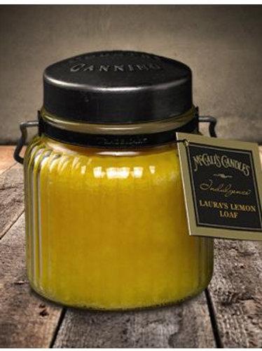 Indulgance Laura's Lemon Loaf Jar Candle