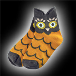 Brown & Orange Youth Owl Socks