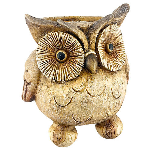 3D Brown Owl Planter