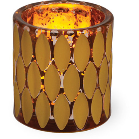 Amber & Copper Votive Holder